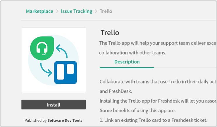 Trello app on marketplace