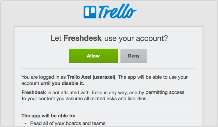 Trello authorize