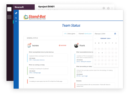 free trial of jira integration for slack standup bot